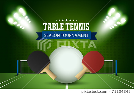 Ping Pong or table Tennis tournament. poster or banner vector template design EPS10. 71104843