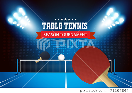 Ping Pong or table Tennis tournament. poster or banner vector template design EPS10. 71104844