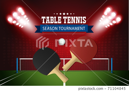 Ping Pong or table Tennis tournament. poster or banner vector template design EPS10. 71104845