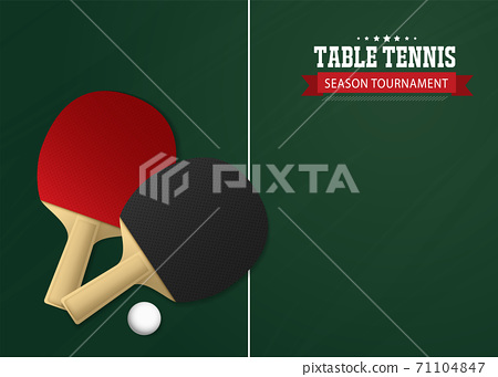 Ping Pong or table Tennis tournament. poster or banner vector template design EPS10. 71104847