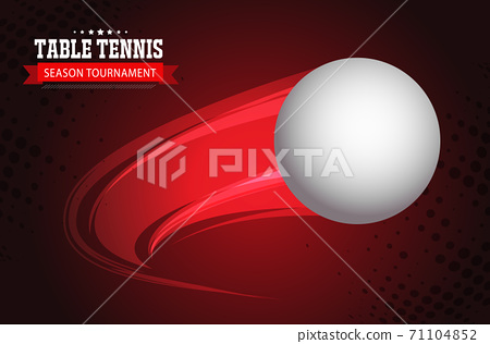 Ping Pong or table Tennis tournament. poster or banner vector template design EPS10. 71104852