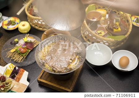 Hot spring inn dinner image GoTo travel campaign GoToEat shooting 71106911