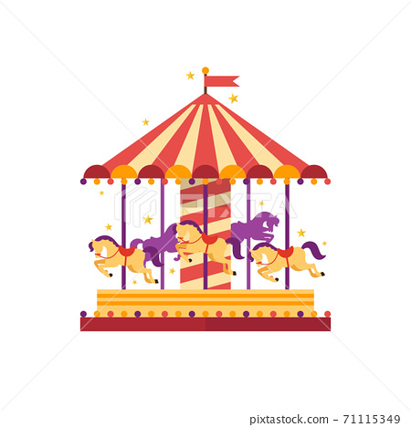 Colorful carousel with horses 71115349