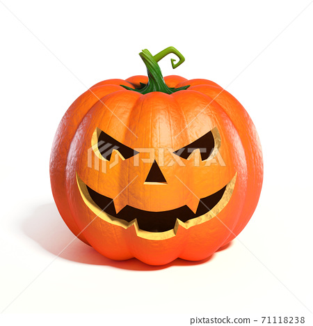 Halloween Pumpkin Jack O Lantern 3d rendering 71118238