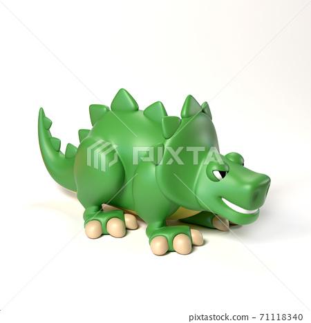 Dinosaur toy 3d rendering 71118340