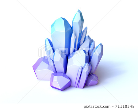 Blue crystal 3d rendering 71118348