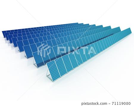 Solar panels 3d rendering 71119080