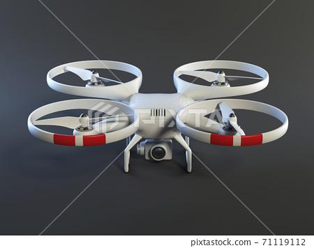 Drone on dark background 3d rendering 71119112