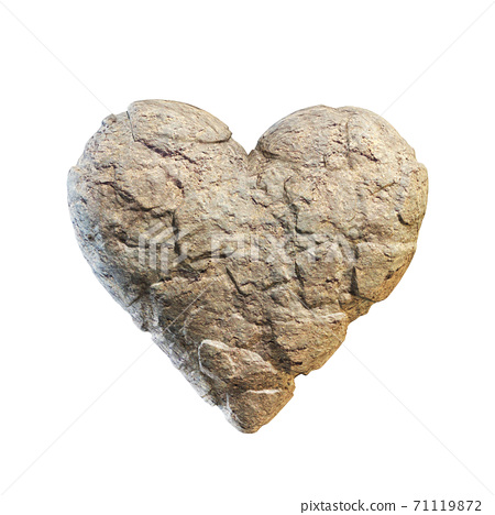 Heart made of stone, rocky heart 3d rendering 71119872