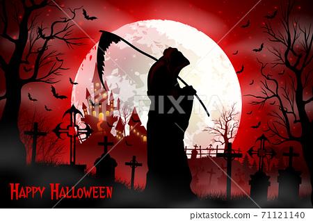 Halloween grim reaper holding scythe 71121140