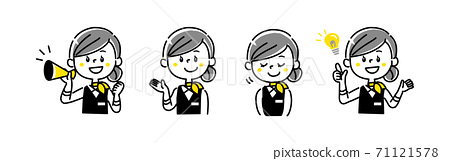 櫃檯接待指南女性變化 71121578