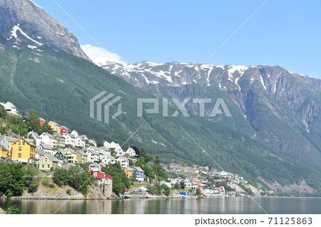 挪威的荒野和城市景觀 71125863