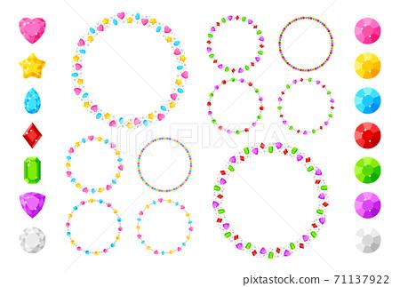 寶石/圓圈/混合 71137922