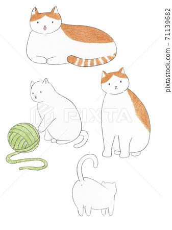貓彩色鉛筆素描 71139682