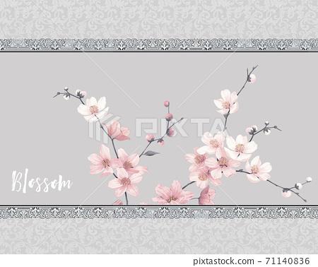 美麗的水彩玫瑰花和牡丹花 71140836