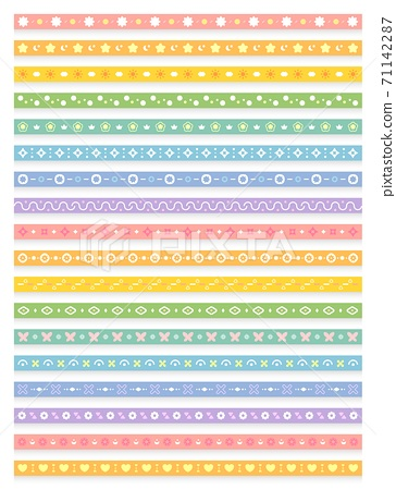 長條狀的連續圖型,多彩的無縫背景,連續圖騰,可用於邀請卡,生日賀卡,婚禮,情人節 71142287