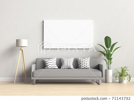 Mockup frame in modern interior background 71143782