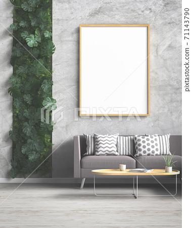 Mockup frame in modern interior background 71143790