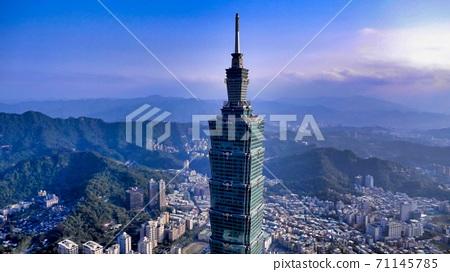 Aerial view of Taipei 101 71145785