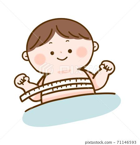 嬰兒測量胸圍 71146593