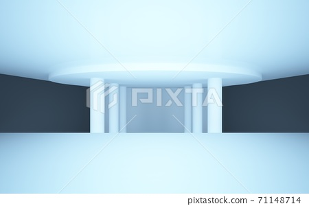 abstract interior with black walls and floors 71148714