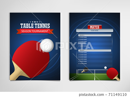 Ping Pong or table Tennis tournament. poster or banner vector template design EPS10. 71149110