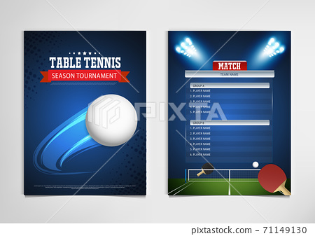 Ping Pong or table Tennis tournament. poster or banner vector template design EPS10. 71149130
