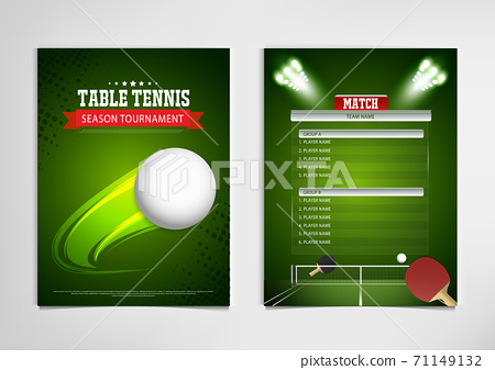 Ping Pong or table Tennis tournament. poster or banner vector template design EPS10. 71149132