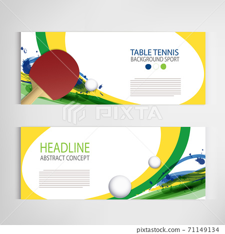 Ping Pong or table Tennis tournament. poster or banner vector template design EPS10. 71149134