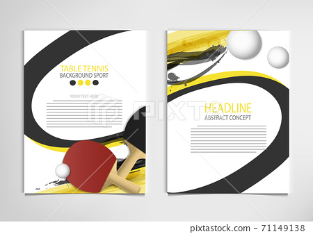 Ping Pong or table Tennis tournament. poster or banner vector template design EPS10. 71149138