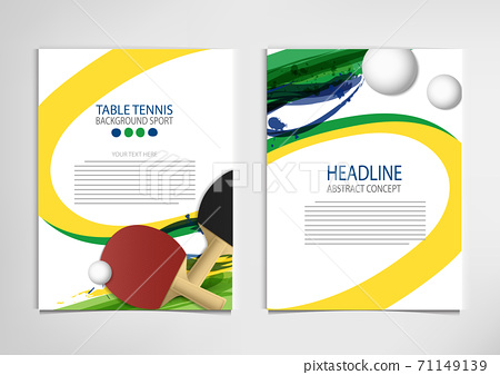 Ping Pong or table Tennis tournament. poster or banner vector template design EPS10. 71149139
