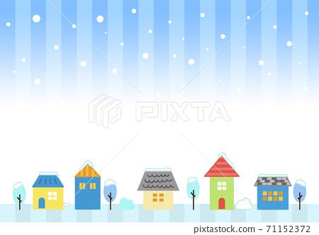 거리 주택 겨울 배경 소재 71152372