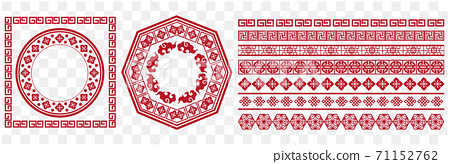 Template of Chinese pattern Vector 71152762