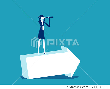 Business planning and development stock vector. Business vision 71154282
