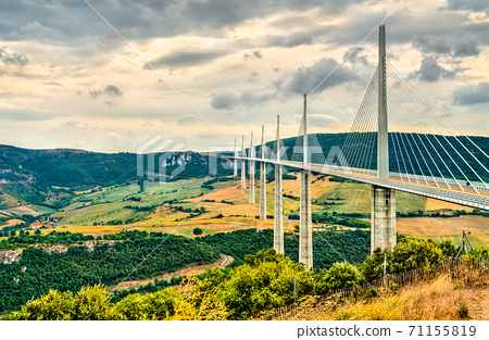 The Millau Viaduct in France, the tallest bridge in the world 71155819