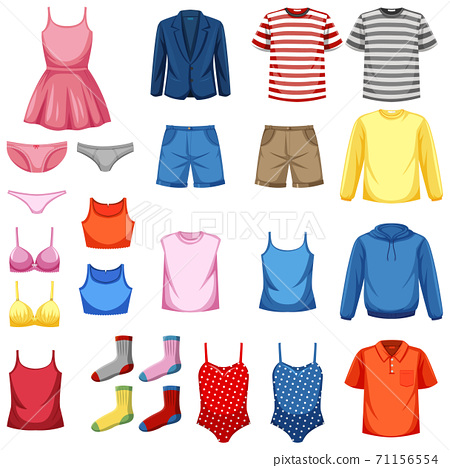 Set of fashion outfits 71156554