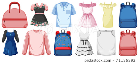 Set of clothes mock up 71156592