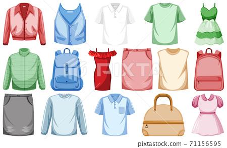 Set of fashion outfits 71156595