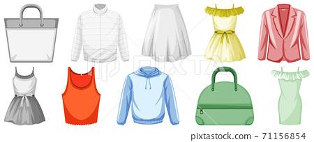 Set of clothes mock up 71156854