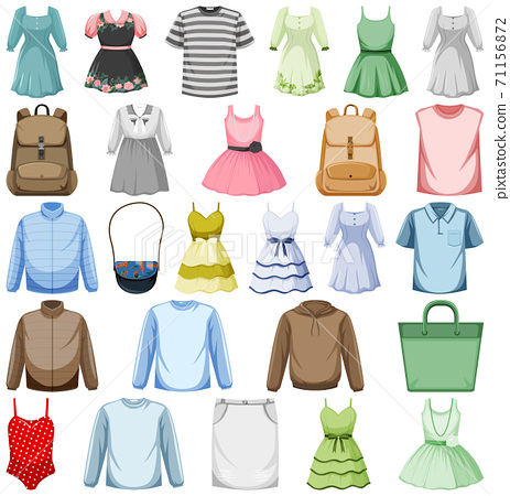 Set of fashion outfits 71156872