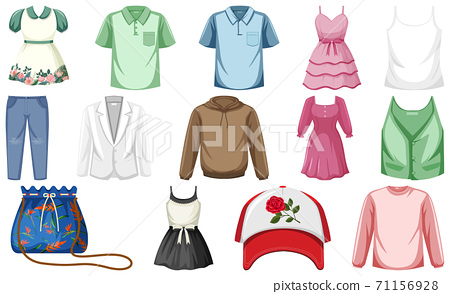 Set of clothes mock up 71156928