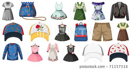 Set of fashion outfits 71157318