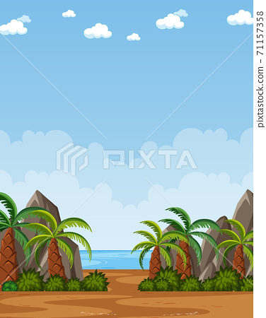 Vertical nature scene or landscape countryside 71157358