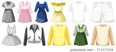 Set of clothes mock up 71157359
