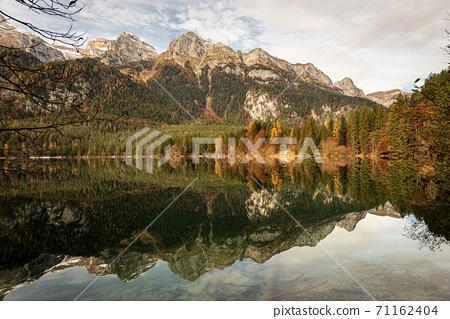 Lago di Tovel - Beautiful Lake in Italian Alps Trentino-Alto Adige Italy 71162404