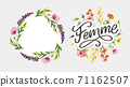 decorative femme text lettering calligraphy flowers brush slogan 71162507