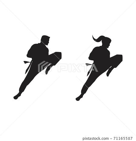 Taekwondo Vector icon design 71165587