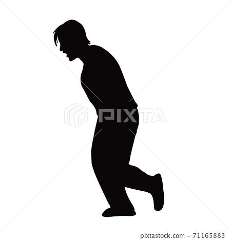 a woman body silhouette vector 71165883