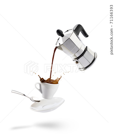 pouring coffee 71166393