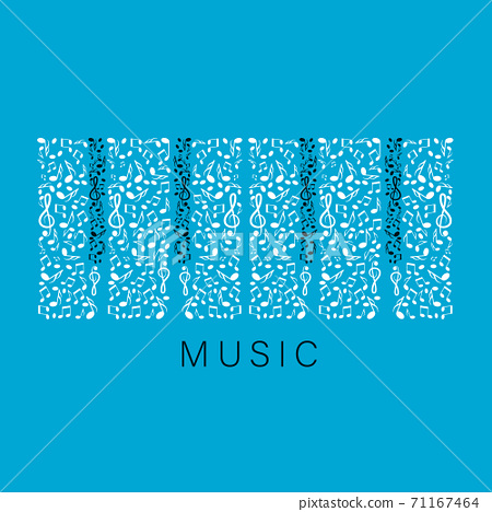 Music Background with Abstract Piano Keys  71167464